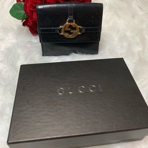 💯Auth Gucci Leather Wallet